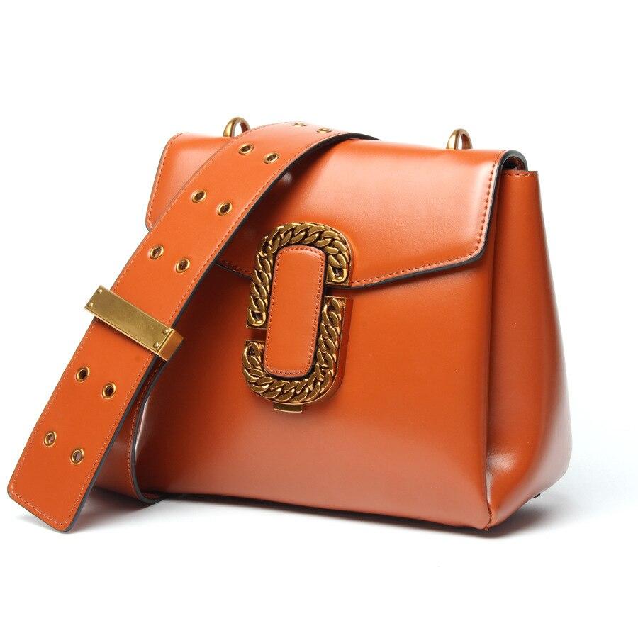 Split Leather New Design - 2017 wide straps locomotive leather handbag shoulder inclined shoulder bags portable small package