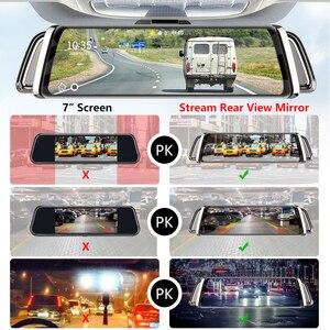 Image 3 - 10 Inch Touch Screen Stream Car DVR Rear View Mirror Dash Cam Full HD Car Camera 1080P Back Camera Dual Lens Video Recorder