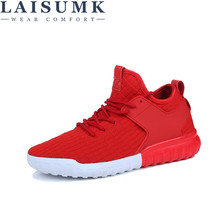 цена на 2019 LAISUMK New Arrival Fashion Mesh Breathable Spring/Autumn Casual Shoes For Men Laces Plus Size 39-46 Lazy Male Shoes