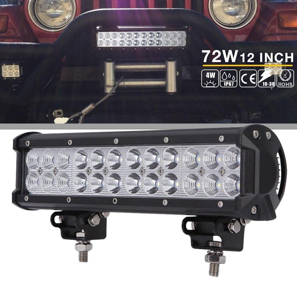 5D 72W SPOT LED Offroad Work Light Lamp 12V For Car Boat Truck Driving Fog Light