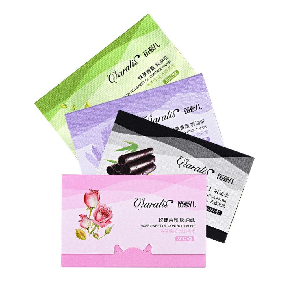 Papel De Seda 80 Unids/pack Limpieza De Maquillaje Aceite Absorbente De Papel Facial Hojas De Limpieza Facial Limpiador Facial 4 Estilos