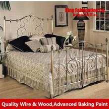 Princess iron bed single double iron bed children bed bunk bed