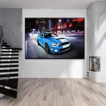 Modern Painting Wall Artwork 1 Piece Muscle Car Ford Mustang Shelby GT500 Picture Decoration Living Room Canvas HD Print Poster printio ford mustang shelby gt500 eleanor 1967