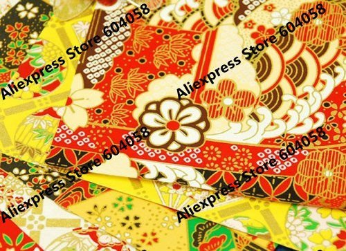 """11""""x8"""" (27x19cm) yuzen style print paper chiyogami washi paper for Scrapbooking, origami, crafts"""