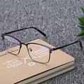 Óculos de Armação de Metal Óptico Miopia Armações de Óculos de Design Dos Homens Do Vintage Unisex Gafas Oculos de Grau Feminino