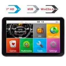 7 дюймов емкостный Сенсорный экран автомобиля GPS навигации CPU800M 8 г Бесплатная последние Карты высокое Яркость Дисплей с почерком пера