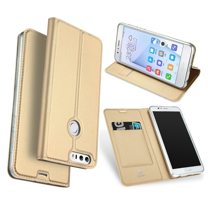 Fashion Kulit Kasus Untuk Huawei Honor 8 Lite Kasus Slim Luxury Card - Aksesori dan suku cadang ponsel - Foto 1