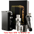 Оригинал Тесла Nano 60 Вт ТК Коробка Модов Электронной Сигареты Моды Starter комплект с Торнадо Югу ом Бак Комплекты Комплекты Электронных Сигарет ГГ