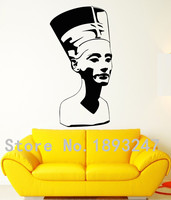 Egypt Nefertiti Pharaoh Statue Ancient Culture Mural Art Removable Vinyl Wall DecalWall Sticker Office Room Home Decorationv