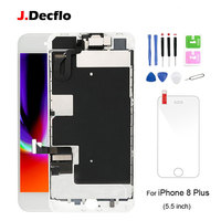 For iPhone 8 Plus LCD Display Touch Screen Digitizer +Front Camera+Ear speaker Full Assembly Replacement Parts with Gifts AAA+