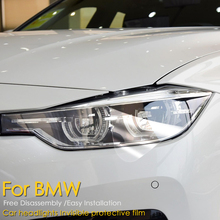 цена на Car Styling Headlight Protective Transparence Restoration Protection Film For BMW F30 F10 F25 X5 F15 X6 F16 G30 F25 F45 G11 G12