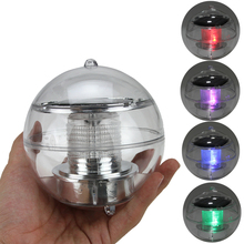 2V 60mA Pool Solar Power RGB Ball LED Floating Light Lamp Outdoor Garden Pond Landscape Color Night Lights xmas lights