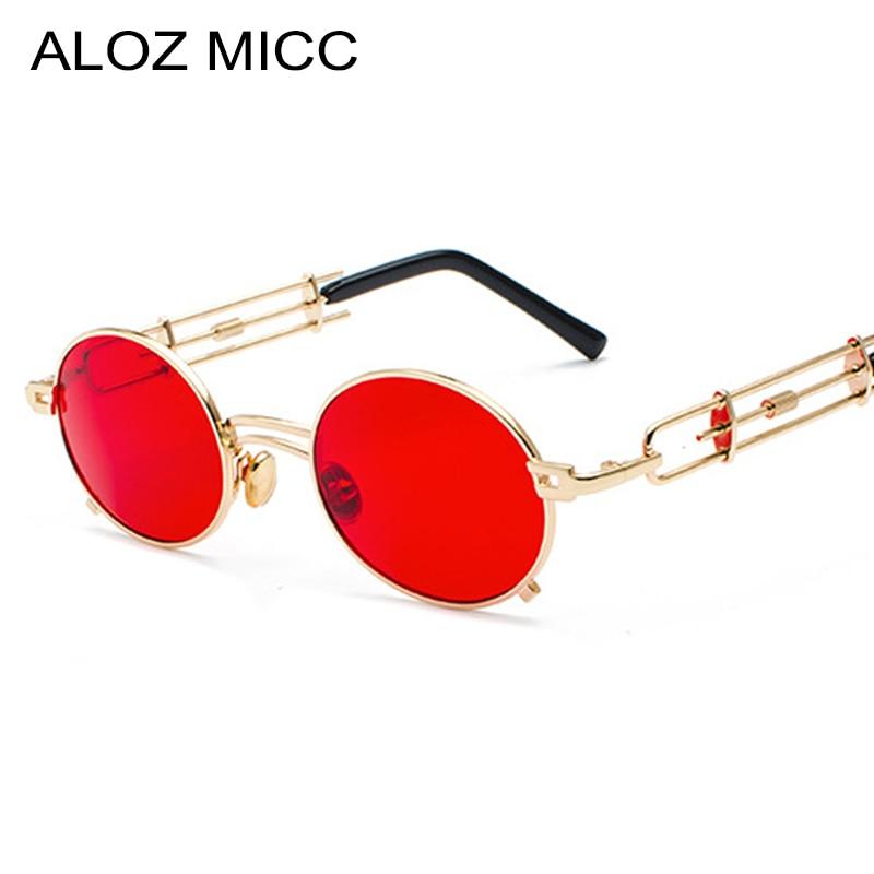 Apparel Accessories Women's Sunglasses Aloz Micc 2018 Steampunk Round Sunglasses Women Men Brand Designer Vintage Metal Frame Glasses For Women Oculos Uv400 Q526 Crease-Resistance