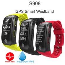 S908 смарт-браслет монитор сердечного ритма Smart Band GPS трекер записать несколько режим «Спорт фитнес-трекер Водонепроницаемый