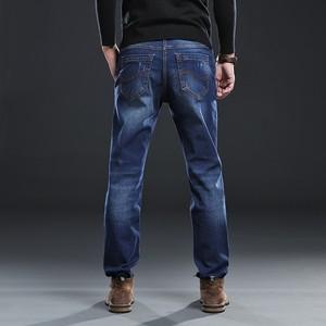 Image 5 - Mens Regular Fit Jeans Clothing Plus Male Autumn Elastic Stretch Denim Straight Leg Classic Cowboy Pants Big Size 40 42 44 46 48