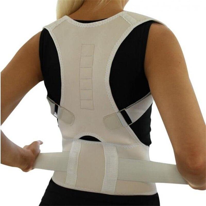 Réglable Orthopédique Dos Posture Soutien Bretelles Ceinture Correcteur de Posture Magnétique Correcteur de postura Épaule Soutien Ceinture