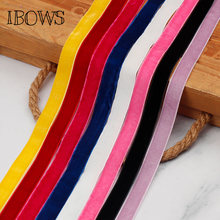 5Yards/lot 15mm Soft Comfortable Velvet Ribbon DIY Bags Skirt Clothes Material Accessories Sewing Fabric DIY Headband Handcrafts(China)
