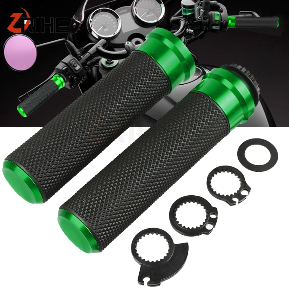 For KAWASAKI BN125 ELIMINATOR XTZ750 SUPER TENERE Z 300 750 800 900 1000 VERSYS 650cc 1000 Moto Aluminum&Plastic Handle Bar Grip