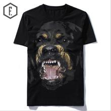 New High 2017 Punk Men Fashion T Shirts Rottweiler Print T-Shirt Hip Hop Skateboard Street Cotton T-Shirts Tee Dog #603