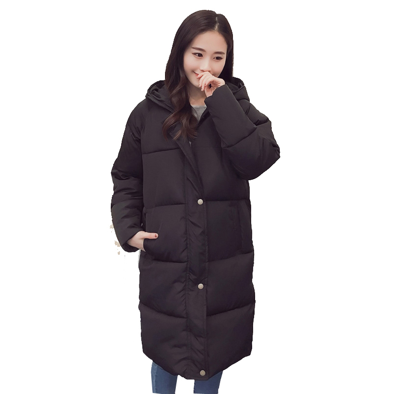 2017 Winter Plus Size Women Jackets Fashion Long Wadded Parkas Warm Hooded Cotton-padded Oversize Gray Thick Coat YP0495 winter jackets men plus size parkas fashion cotton padded warm winter coat plus velvet thick hooded over coat down army green