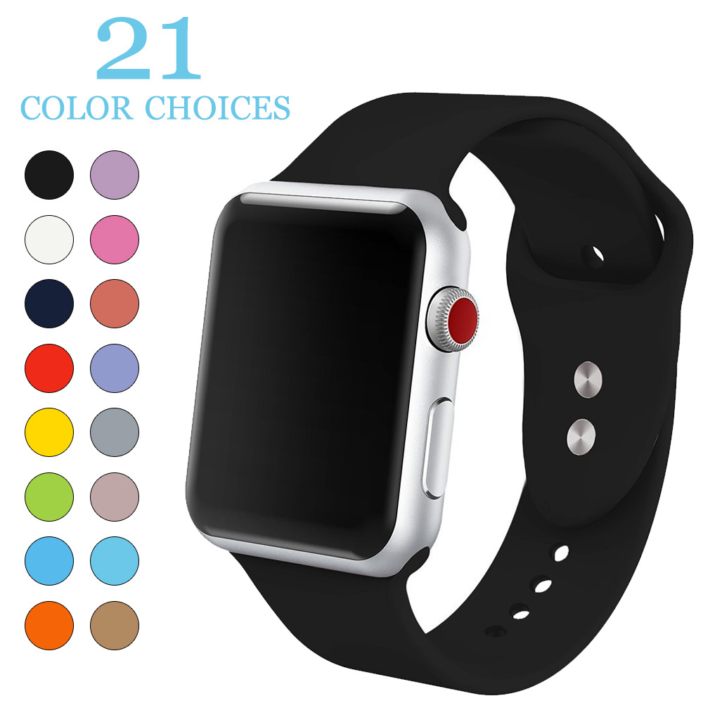Silicone Sport Band for iwatch Series 321 Accessories Replaceable Bracelet Strap for apple Watch 42mm 38mm Watchband Watchstrap