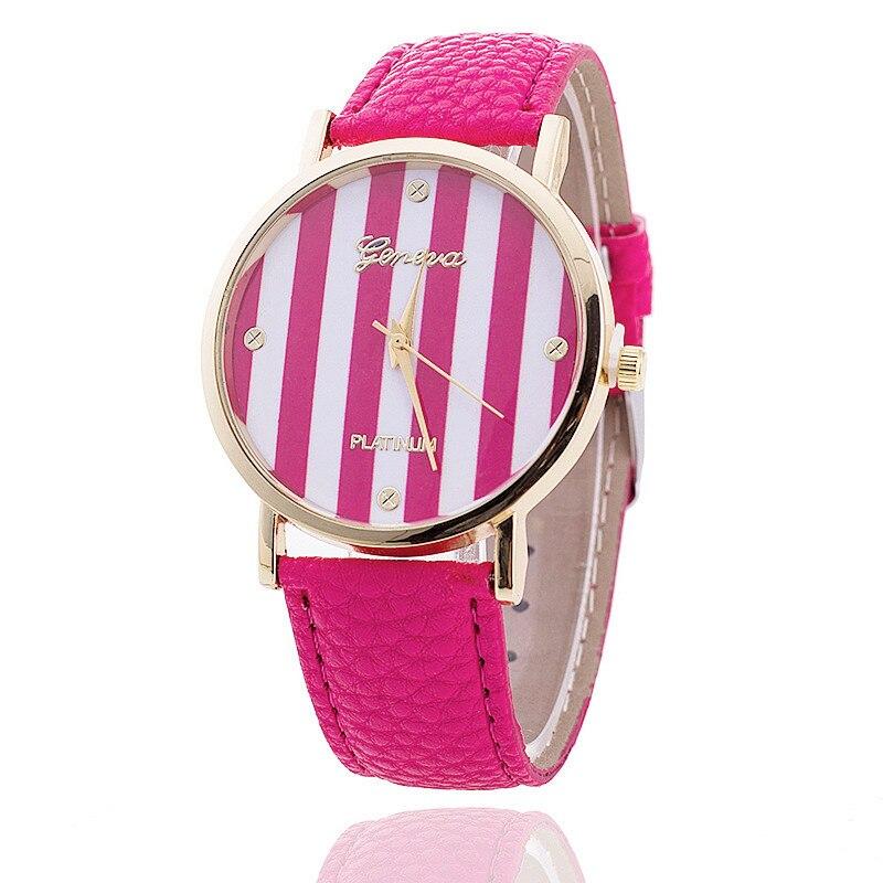 новинка кожа женева часы для женщин платье часы свободного покроя полоса набора кварцевые часы relogio feminino relojes mujer bw317