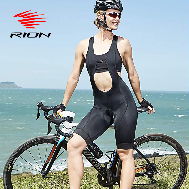 RION Cycling Bib Shorts Women Summer Bike Bibs Shorts Padded Tights Bicycle Pants Quick Drying Breathable Shorts 2018 Designers