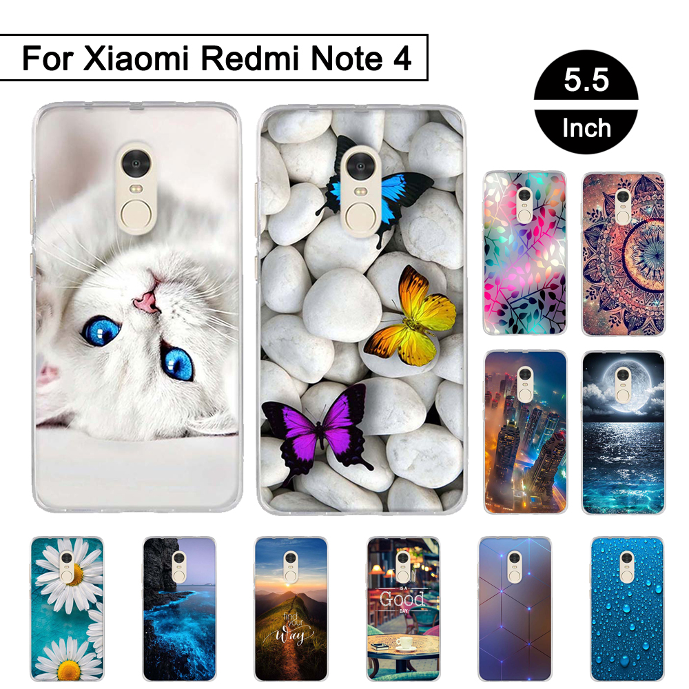 Case for xiaomi redmi note 4 tpu soft phone cases silicon cover for xiaomi redmi note4 pattern - Xiaomi redmi note 4 case ...
