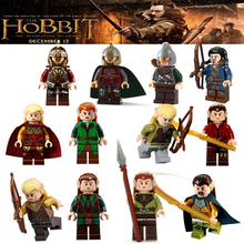 Lord of the rings hobbit with weapon lepin Gandalf Isildur Sauron Greenleaf los khan sold mini