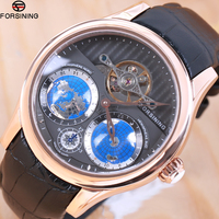 Forsining 2018 Earth Real Tourbillion Multi Dimensional Designer Mens Watches Top Brand Luxury Fashion Casual Automatic