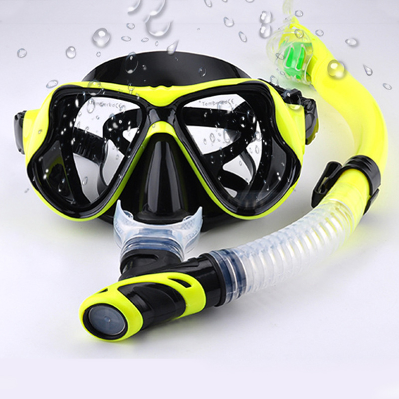 Diving Mask Snorkel Anti-Fog Glasses Set Silicone Swimming Fishing Pool Equipment HD Diving Glasses Snorkels For Men And Women