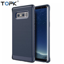 For Samsung Note 8 Case, TOPK Flexible TPU Strong Guard Protection Series Brushed Style Phone Case for Samsung Galaxy Note 8