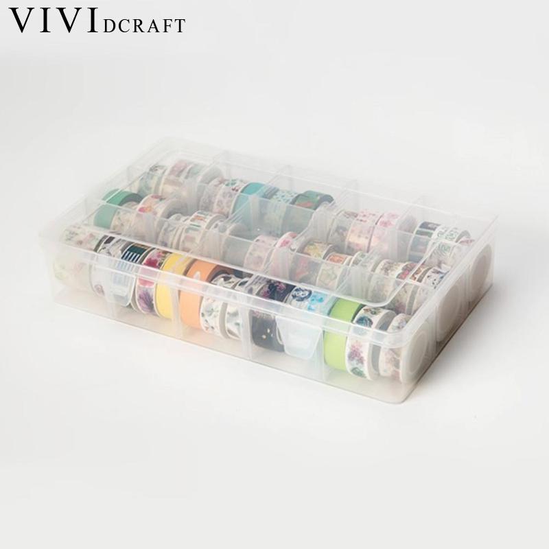 Vividcraft Tape Dispenser Washi Tape DIY Storage Box Scrapbooking Sticker Stationery 27.6*16*5.5cm Packing Tape Dispenser kitmmmh180unv10200 value kit scotch h180 box sealing pistol grip tape dispenser mmmh180 and universal small binder clips unv10200