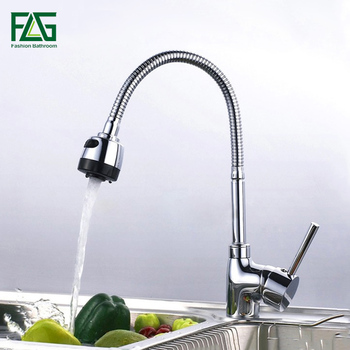 цена на FLG Kitchen Mixer Cold and Hot flexibleSolid Kitchen Tap Single lever Hole Water Tap Kitchen Faucet Torneira Cozinha