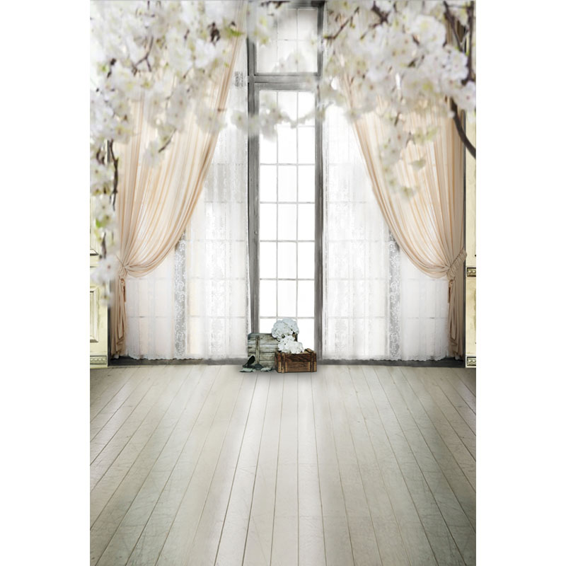 Seamless Vinyl Photography Background Big French Window Flower Dream Computer Printed Wedding Backdrops for Photo Studio ZH-35 857 seamless nail wedding photo frame wall paintings hook the real invisible