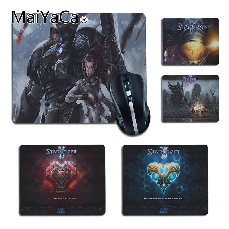 MaiYaCa Starcraft Gaming Gamer Mice Mause Mouse Pad Radiation Non-Skid Rubber Pad Notbook Computer mouse pad muismat