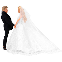 Новые красивые белые свадебные платья для невесты крутые красивые костюмы жениха для куклы Барби Кен аксессуары элегантная принцесса ручн...