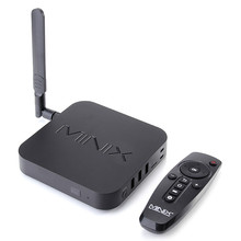 Original MINIX NEO U1 Android TV Box Amlogic S905 Quad Core 2G/16G 802.11 2.4/5GHz WiFi H.265 HEVC 4K Ultra HD XBMC Smart TV Box