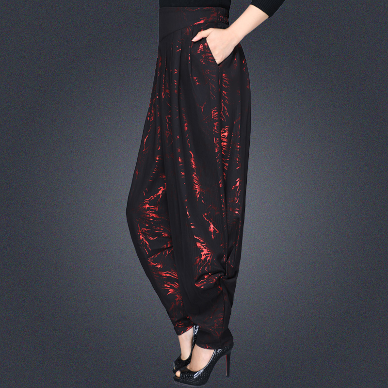 2019 spring and summer large size loose thin wild carrot   pants   thin female harem   pants   casual trousers   wide     leg     pants