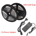 DC 12V Fita LED Strip Lights 5630 10M Not Waterproof Tira LED Light Flexible Neon Bande LED Tape Ribbon + 5A Power Adapter