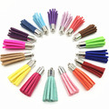 35mm Mixed Tassel Fashion Borlas 100Pcs Pendants For Earrings Making Suede Tassels With Metal Cap Diy Keychain Charms Pingente