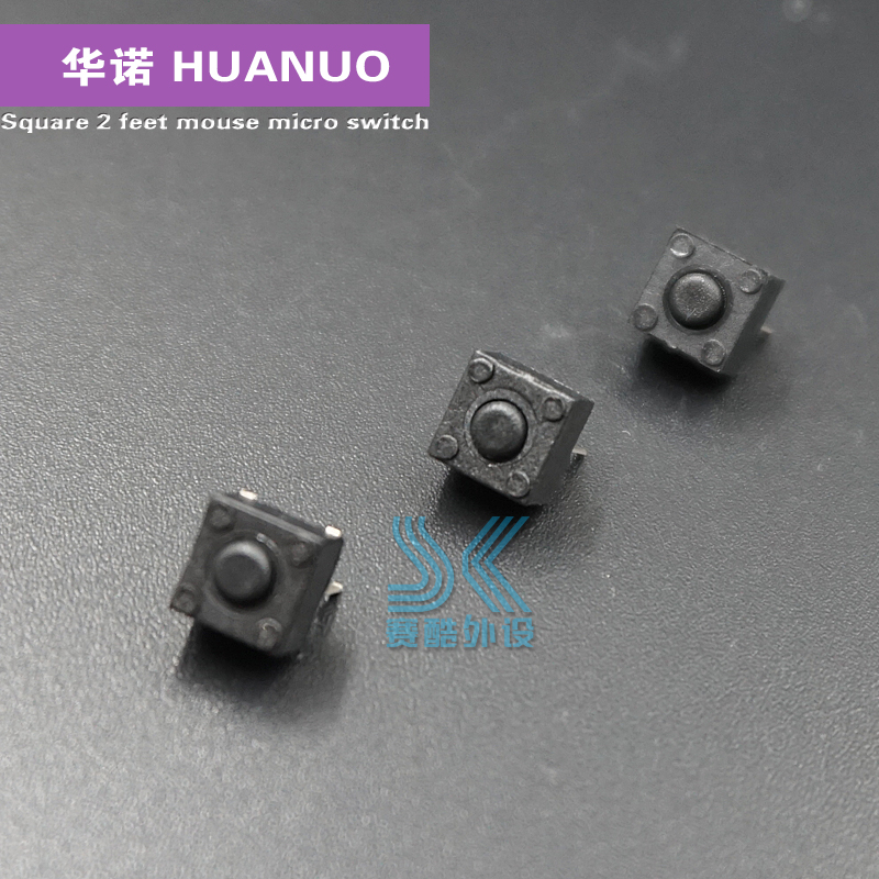 Original HUANO Square Mouse Micro Switch 6x6x5.2mm General Switch Under The Middle Of Button Razer Deathadder 2013 Chroma Wheel