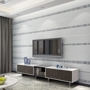 10m Luxury Textured Non-woven Wallpaper Wall Coverings Wall Art-Silver Gray
