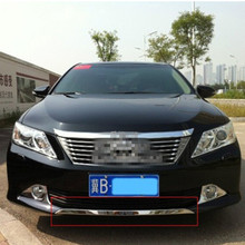 Free shipping,For 2012-2014 Toyota Camry front bumper trim seven generations after the new Camry trim, Front + rear, Car styling