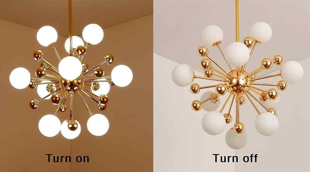 Стеклянная Светодиодная лампа Современная дизайнерская люстра Потолочная люстра для гостиной, спальни, столовой, светильники, Декор для дома, освещение G4 12 огней