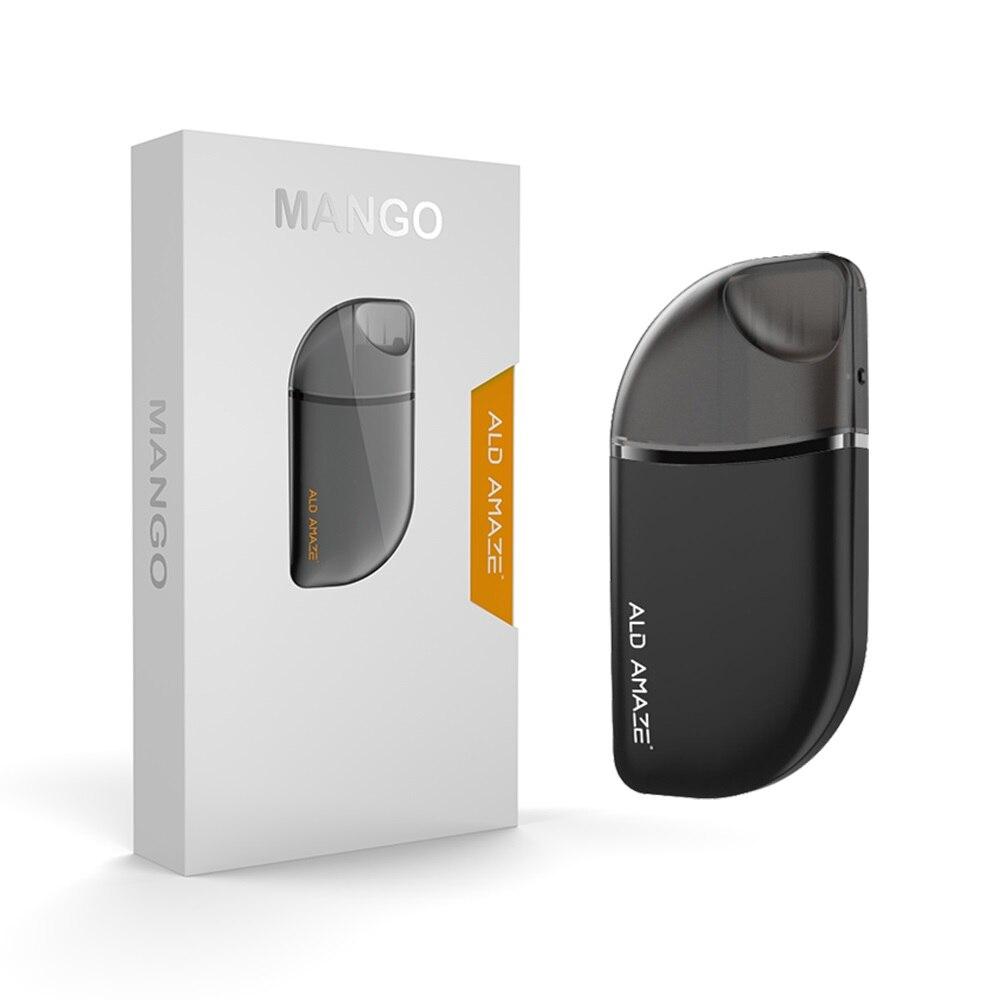 Original ALD Mango E Vape Kit de démarrage batterie intégrée tout-en-un Style Anti-fuite 2 ml capacité du réservoir cigarette électronique