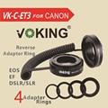 Voking VK-C-ET3 AF Auto Focus Tubo de Extensão macro anel adaptador Reverso lente ef/ef-s-para canon 70d 6d 5d mark ii 60d 40d 600d