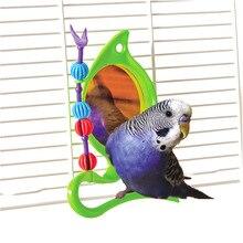 CAITEC Попугай Птицы игрушки зеркальная платформа попугай клетка игрушки подходит для маленьких попугаев