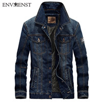 Afs Jeep 2016 Denim Jacket Men Military Jeans Hoody Cotton Male Jackets And Coats Brand Clothing