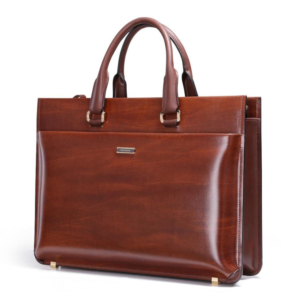 Business Men Briefcase Luxury Laptop Leather Bag Office Large Capacity Handbags
